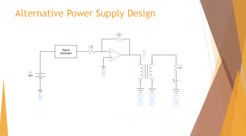 Design if higher voltages are required