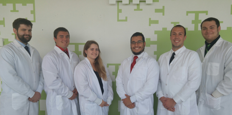 Left to Right: Ryan Kinney, Tyler Lisec, Alexandra LaLonde, Jay Dolas, Vincent Serianni II, Chris Molinari