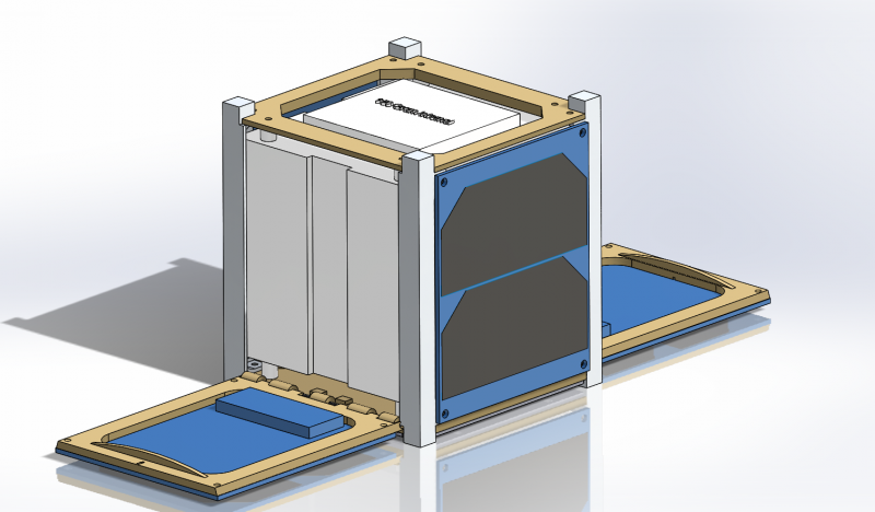 Deployed CubeSat Assembly Isometric View (12/2/15)