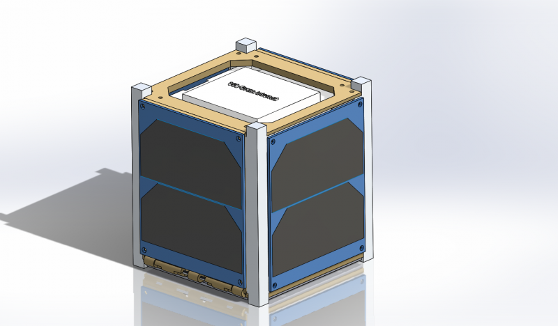 Undeployed CubeSat Assembly Isometric View (12/2/15)