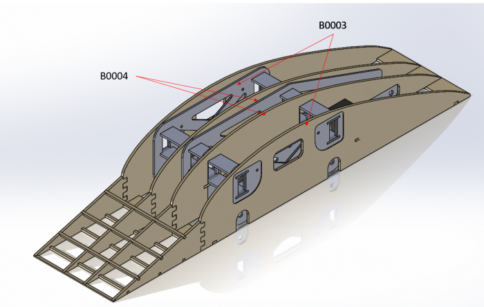 Annotated view of the wingbox