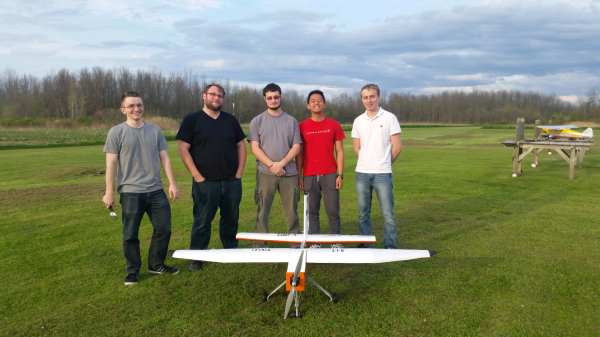 Team at the end of MSD II with their aircraft