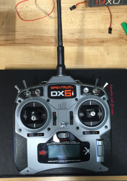 Speaktrum DX6i Remote Control used to control throttle, brake, and steering