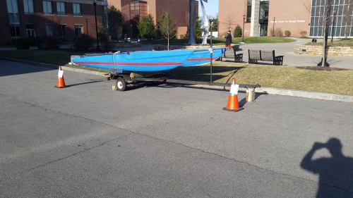 We have secured a location for our boat on campus in the turnaround spot by Gleason in the Unity Quad.