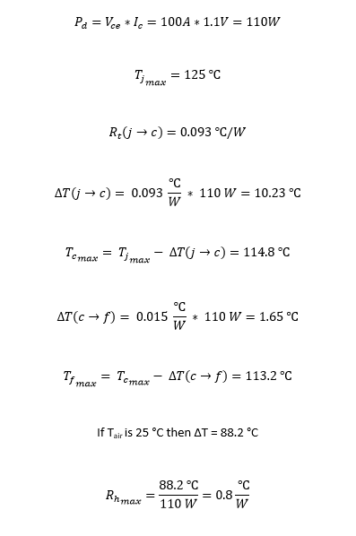 IGBT Thermal Calculations