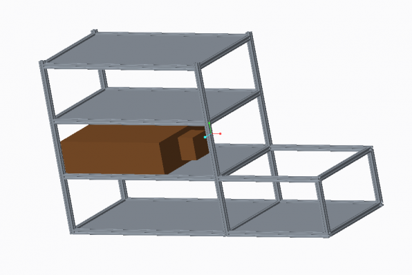 3D Render of T-slot Bench and Shelving