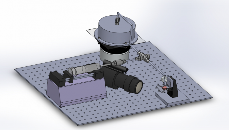 SolidWorks visual of the test setup.
