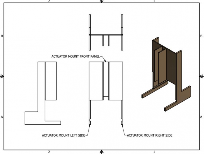 CAD Drawing of Actuator Mount
