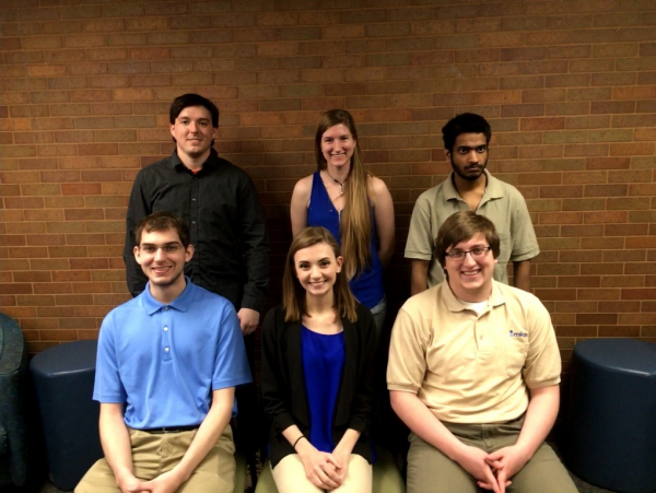 Team Members Front Row(From left):Brandon Frey, Amanda Gratton, Noah Melnick Back Row: Scott Marshall, Elizabeth Logan, Naresh Kumar Kanagasabai
