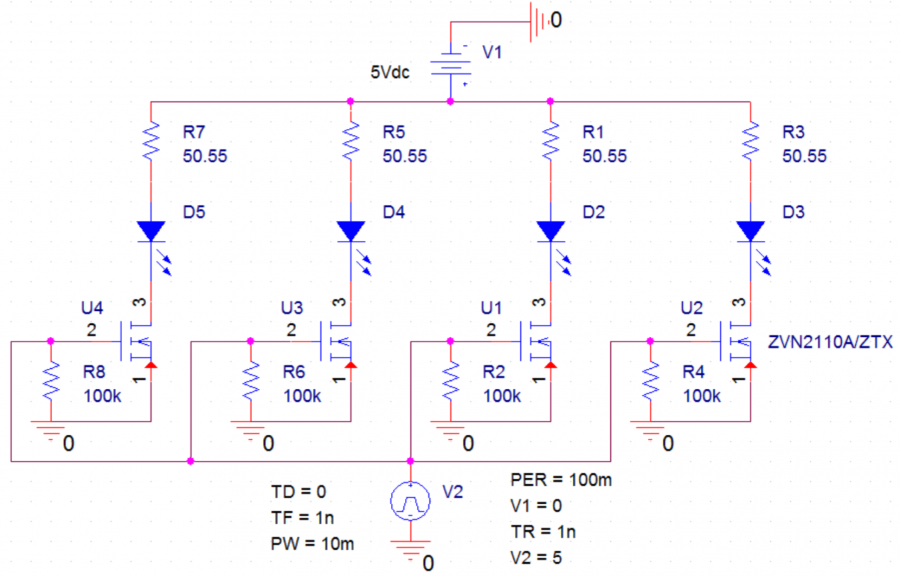 Schematic of LED Control Electronics