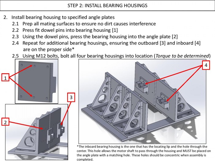 Step 2: Install Bearing Housing
