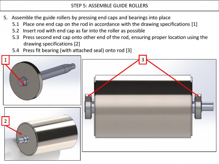 Step 5: Assemble Guide Rollers