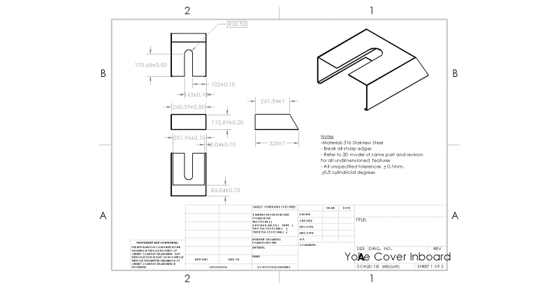 Bearing Housing Cover Drawing - Inboard