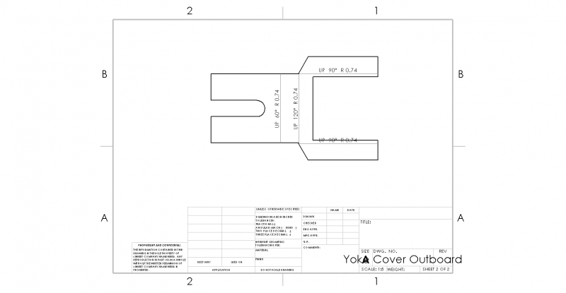 Bearing Housing Cover Drawing - Outboard