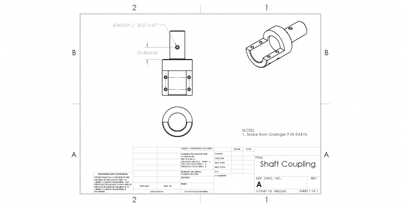 Shaft Adapter Drawing