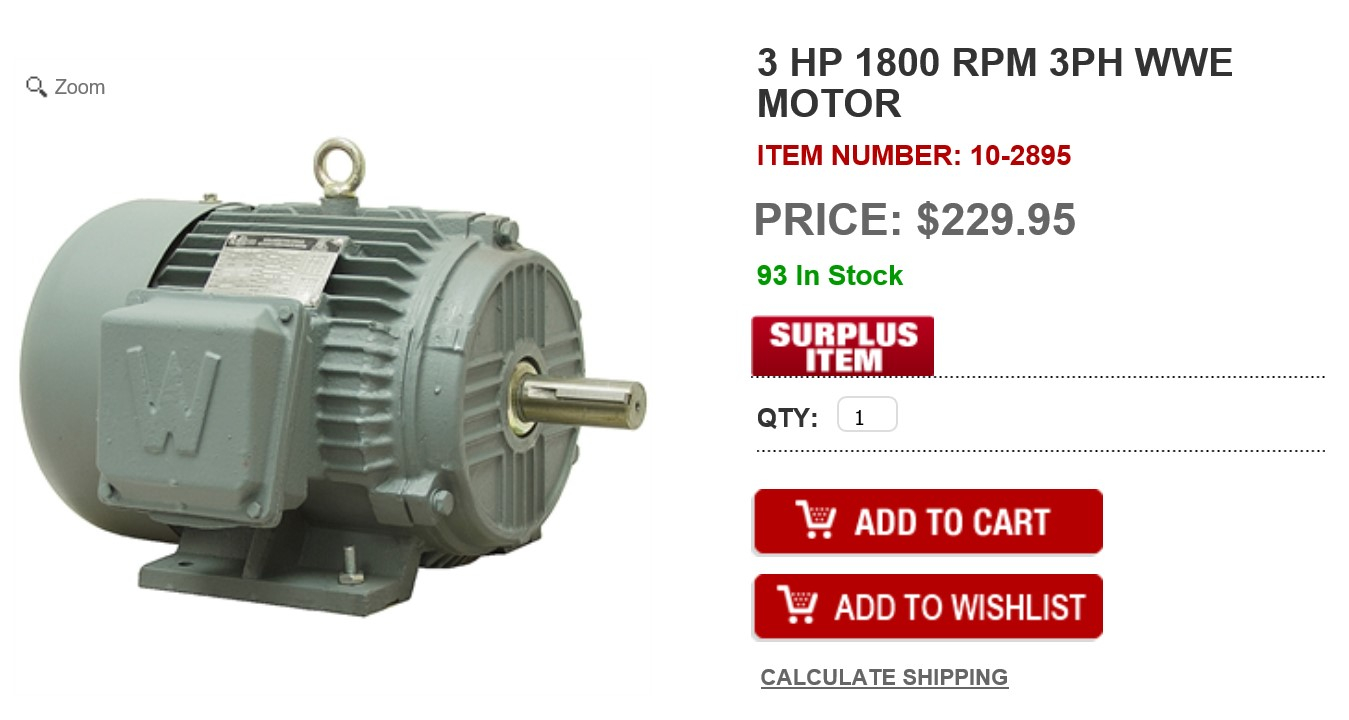 3 Hp Motor Power Consumption