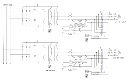 Figure 3: Electrical Drawing Diagram for Motors and an AC drive