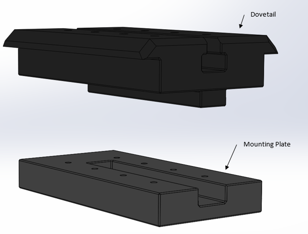 public/Subsystem Design Review/Solidworks Models/3D Screenshots 10.20.15/Dovetail and Workpiece mount_10.20.15.PNG