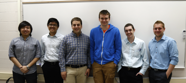 From Left to Right: Keith Poon, Jun Jie Huang, Ryan Hinkley, Aiden Steiger, Kyle Prosser, Kevin Matthews (Not Pictured: Drake Wilson)