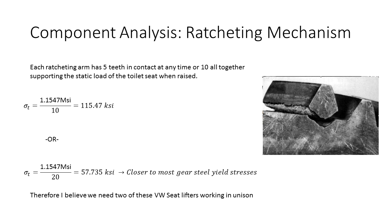 ratcheting analysis