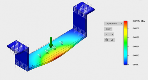 Base Assembly Static Deflection Simulation