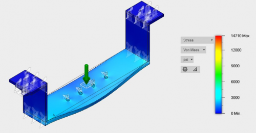 Base Assembly Static Stress Simulation