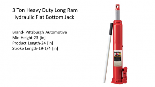 Bottle Jack Key Specifications