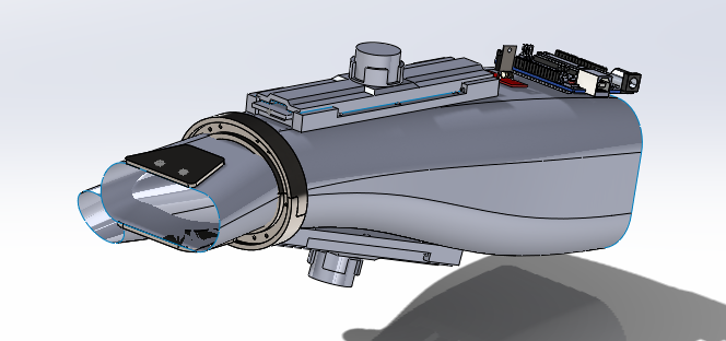 Overview of the Solidworks model for Mark I design