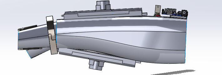 Side view of the Solidworks model for Mark I design