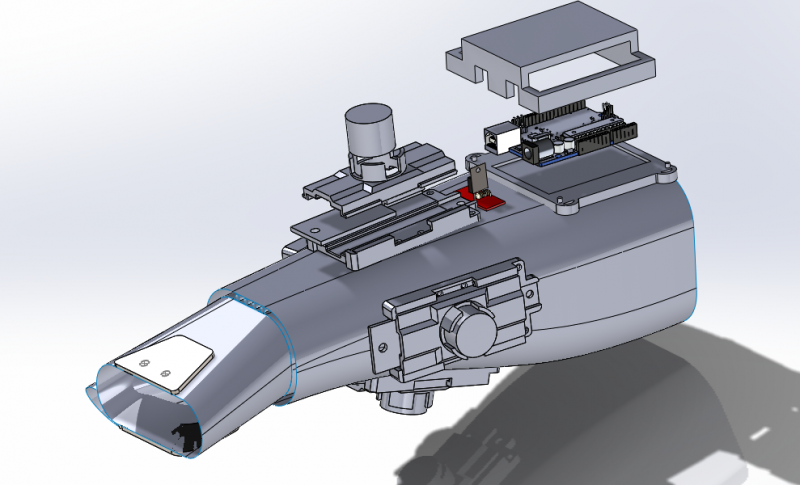 Exploded view of the Solidworks model for Mark II design