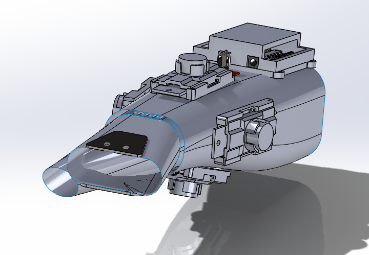 Overview of the Solidworks model for Mark II design