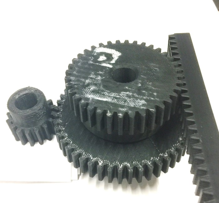 3D Printed Gears Isometric View