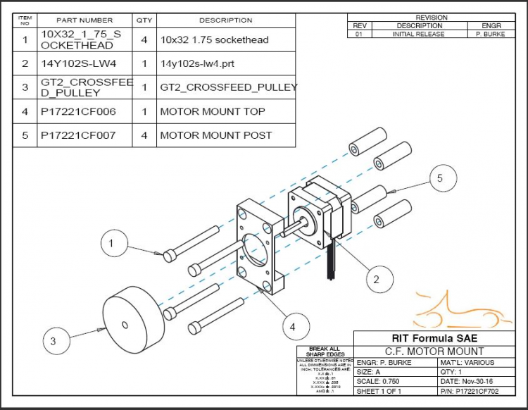 CF Motor Mount Assembly