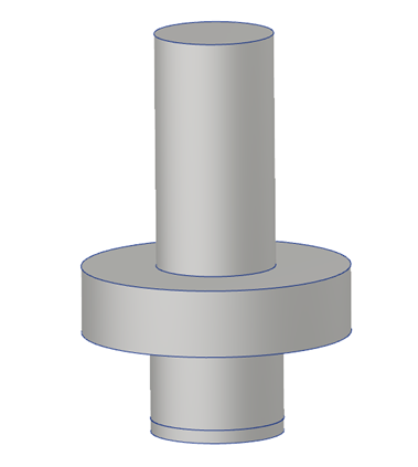 3D Rendering of support rod flange