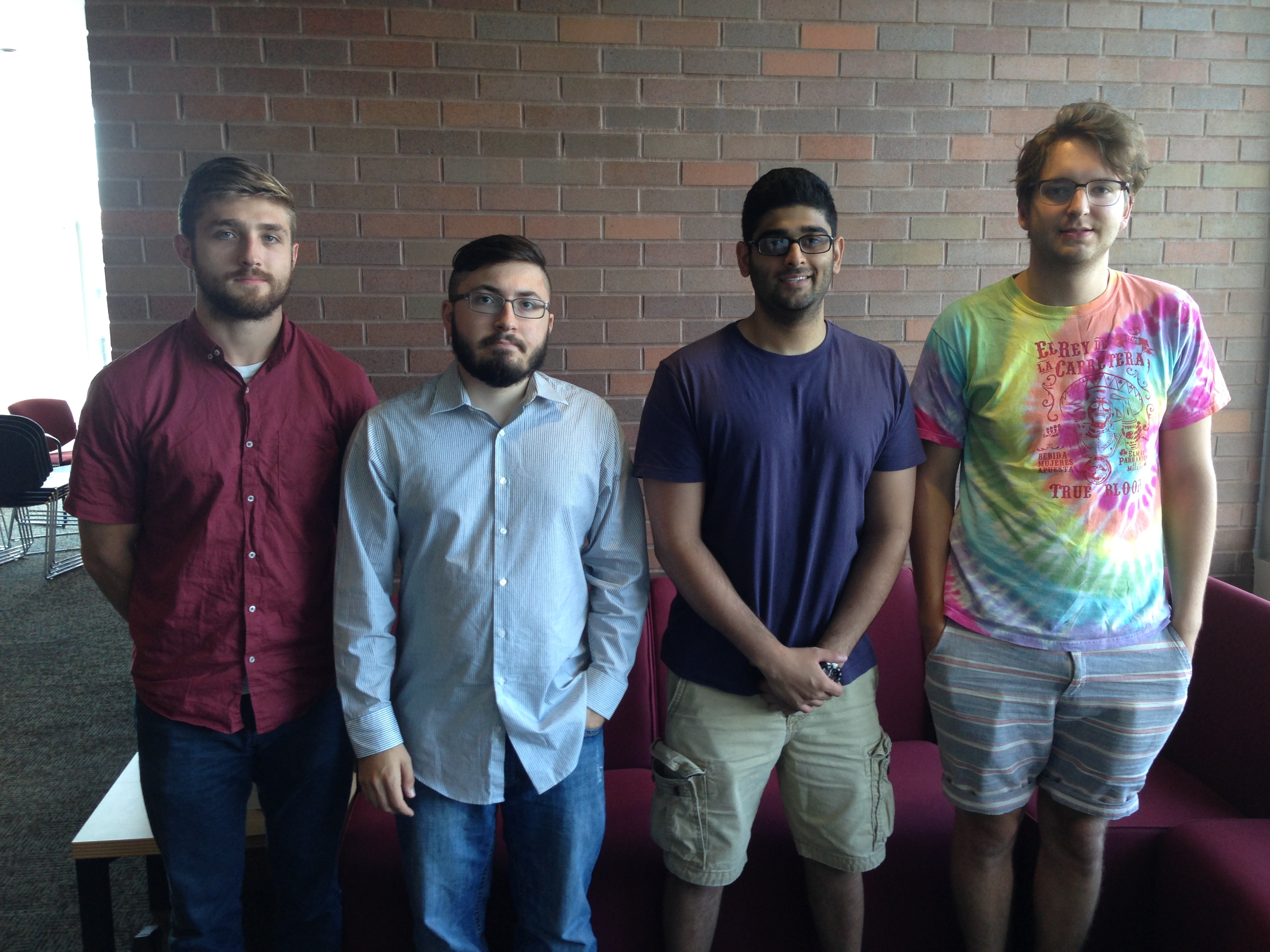 From left to right: Steven Lalowski, Erik Freeman, Jay Patel, and Niall O'Dowd
