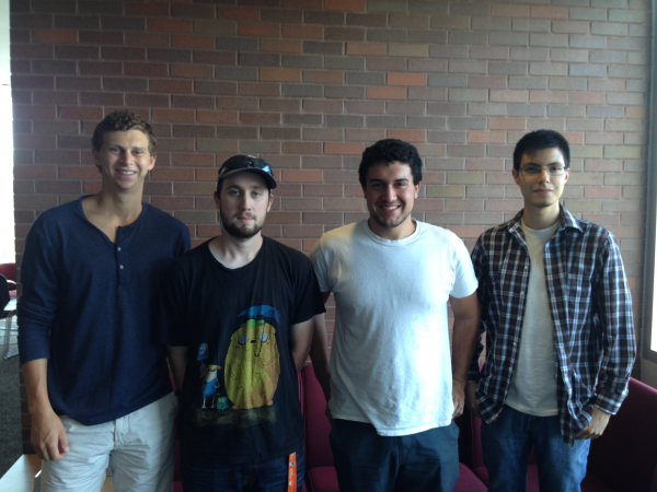 From left to right: Charlie Friedman, John Magure, Emir Ljuca, and Dante Gonzales