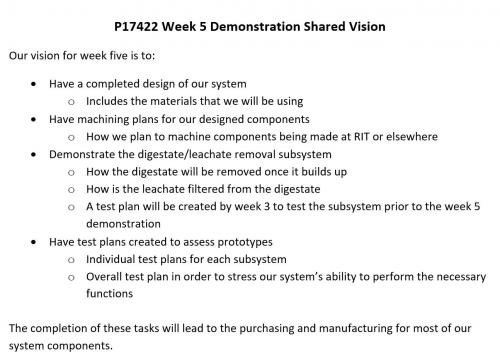 Week 5 Demonstration Shared Vision