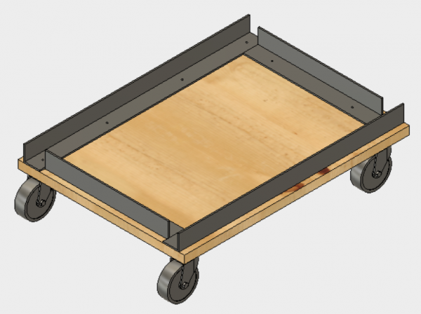 Image of the storage cart design. The design uses 1.5