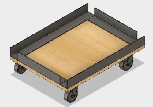 Design for the personal belongings storage carts.