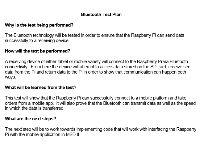Bluetooth Test Plan