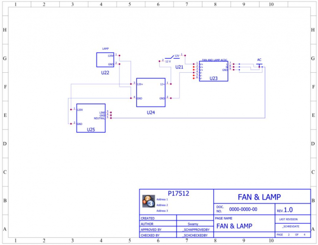 Fan & Lamp Schematic