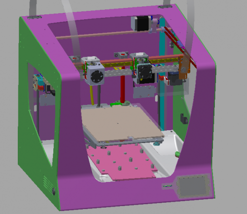 Preliminary design for the selected sensors to be mounted in the printer.
