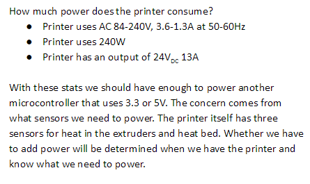 Feasibility: Power Consumption