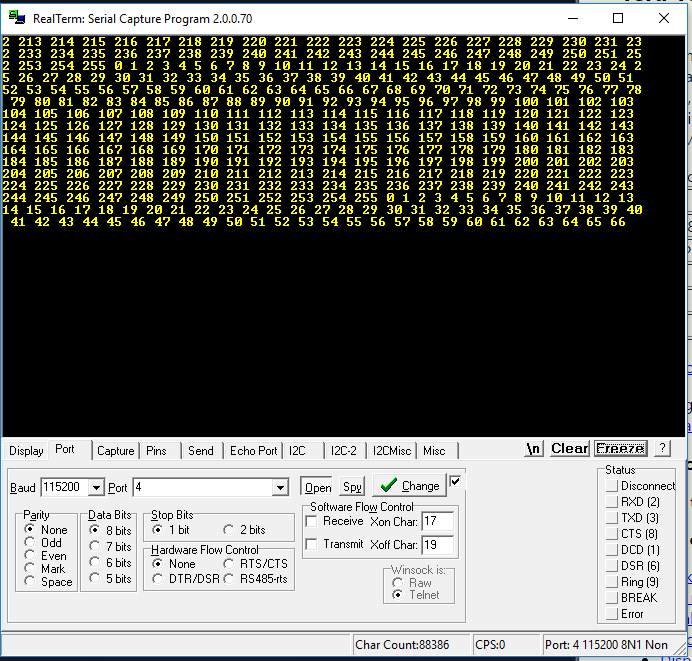 public/Detailed Design Documents/Captures/RN42-XV Packet Loss Test 0-255.PNG