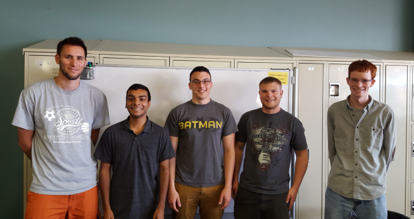 Team Photo (From left to right): Joseph Amoia, Muhammad Ibraheem, Zac Rubeor, Elbert Heacock, Brian Coren