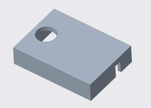 Isometric View of Motor Box Lid, 1