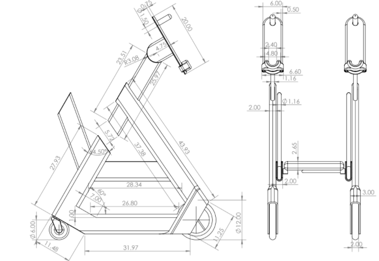 public/Photo Gallery/Preliminary Detailed Design Screenshots/Triangle Walker CAD Dimensions.PNG