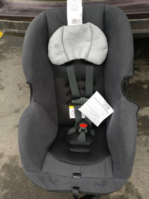 New car seat donated by Wayne County Public Health