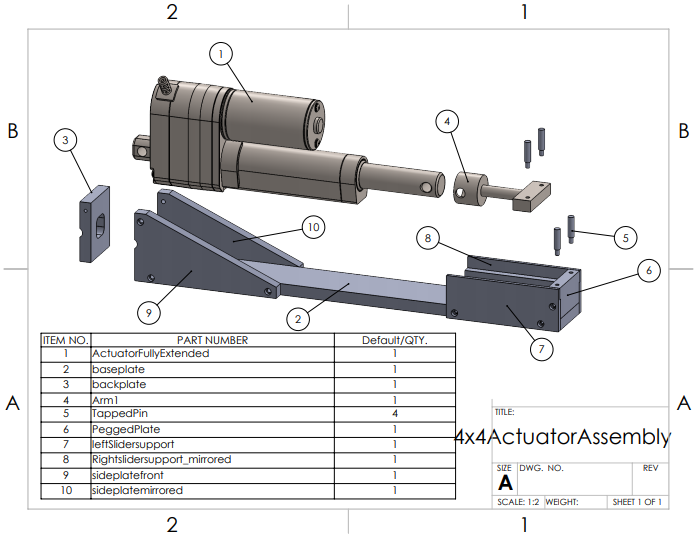 Figure 1: Complete Actuator Housing Assembly.