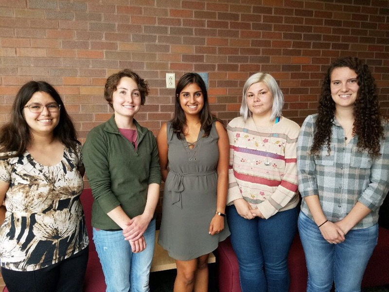 TEAM MYSCLE (left to right): Emily Wood, Natalie Nold, Simran Singh, Emily Adams, Amanda Castagnino